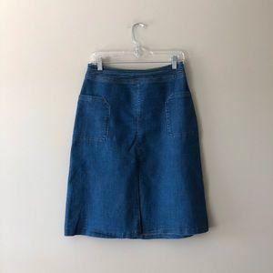 Universal Thread medium wash denim skirt